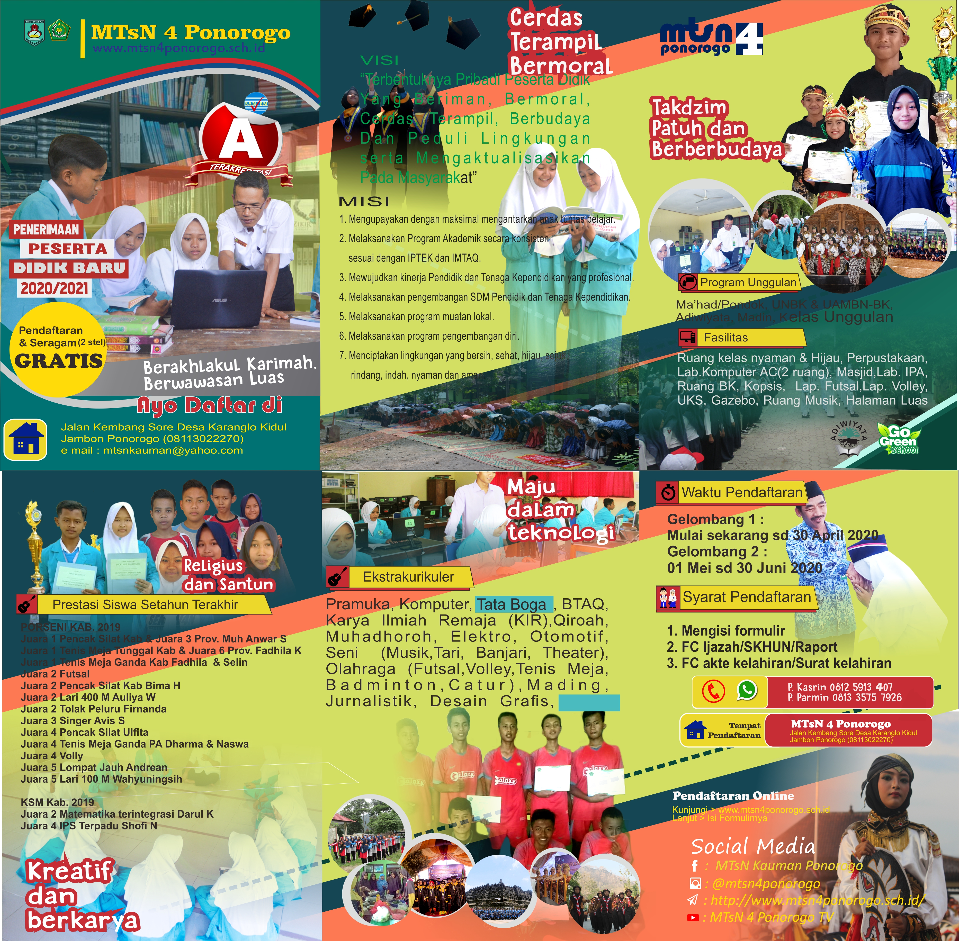 brosur PPDB MTsN 4 Ponorogo 2020