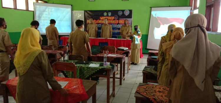 Dalam meningkatkan mutu pendidiknya ditengah pandemi MTsN 4 Ponorogo adakan workshop pembelajaran berbasis digital