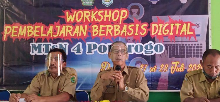 Dukung program E-learning Madrasah, MTsN 4 Ponorogo adakan Workshop